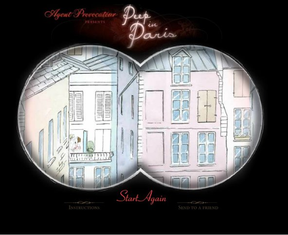 Parisian windows, erotic flash game Peep in Paris