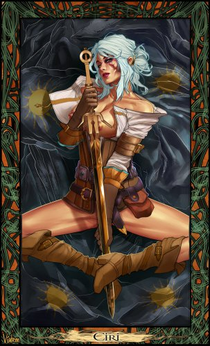 Erotic art, Ciri from The Witcher 3: Wild Hunt
