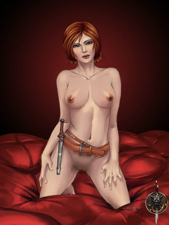 Naked Triss Merigold, major character in The Witcher series