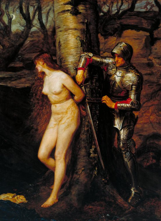The Knight Errant by John Everett Millais