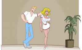 Buck and the new babe, the heroes of flash-games The Dirty Ernie Show 5