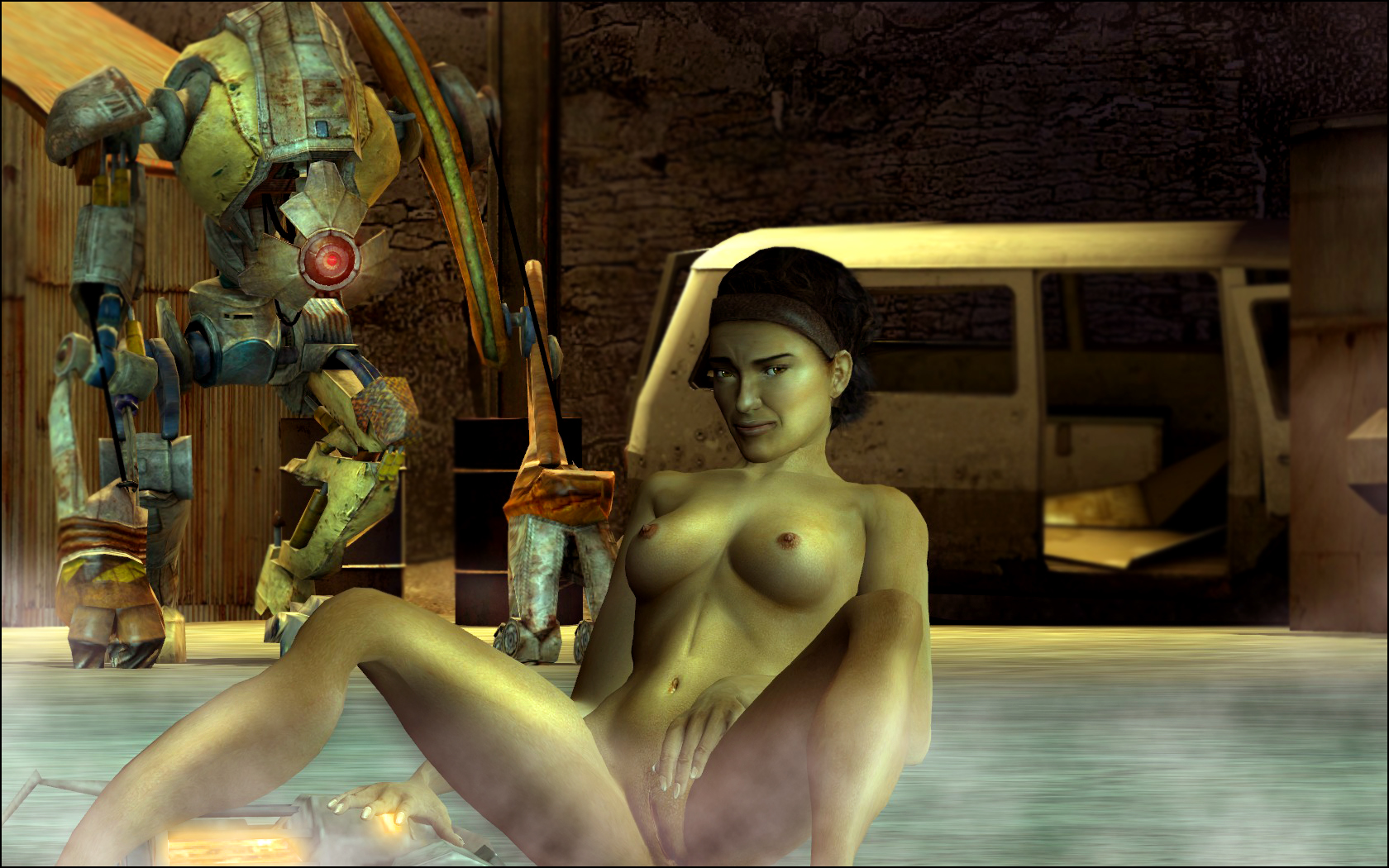 Alyx hl2 naked anime photo