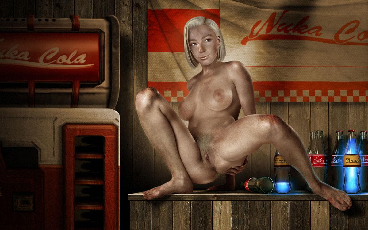Голая Сьерра Петровита, большая любительница Ядер-Колы из игры Fallout 3.
