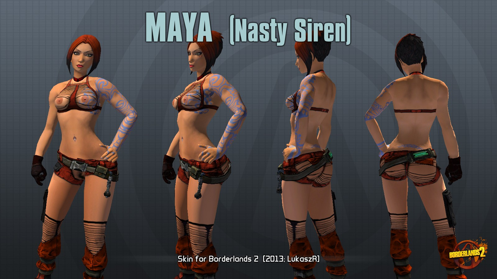 Borderlands 2 sexy maya mod erotic toons