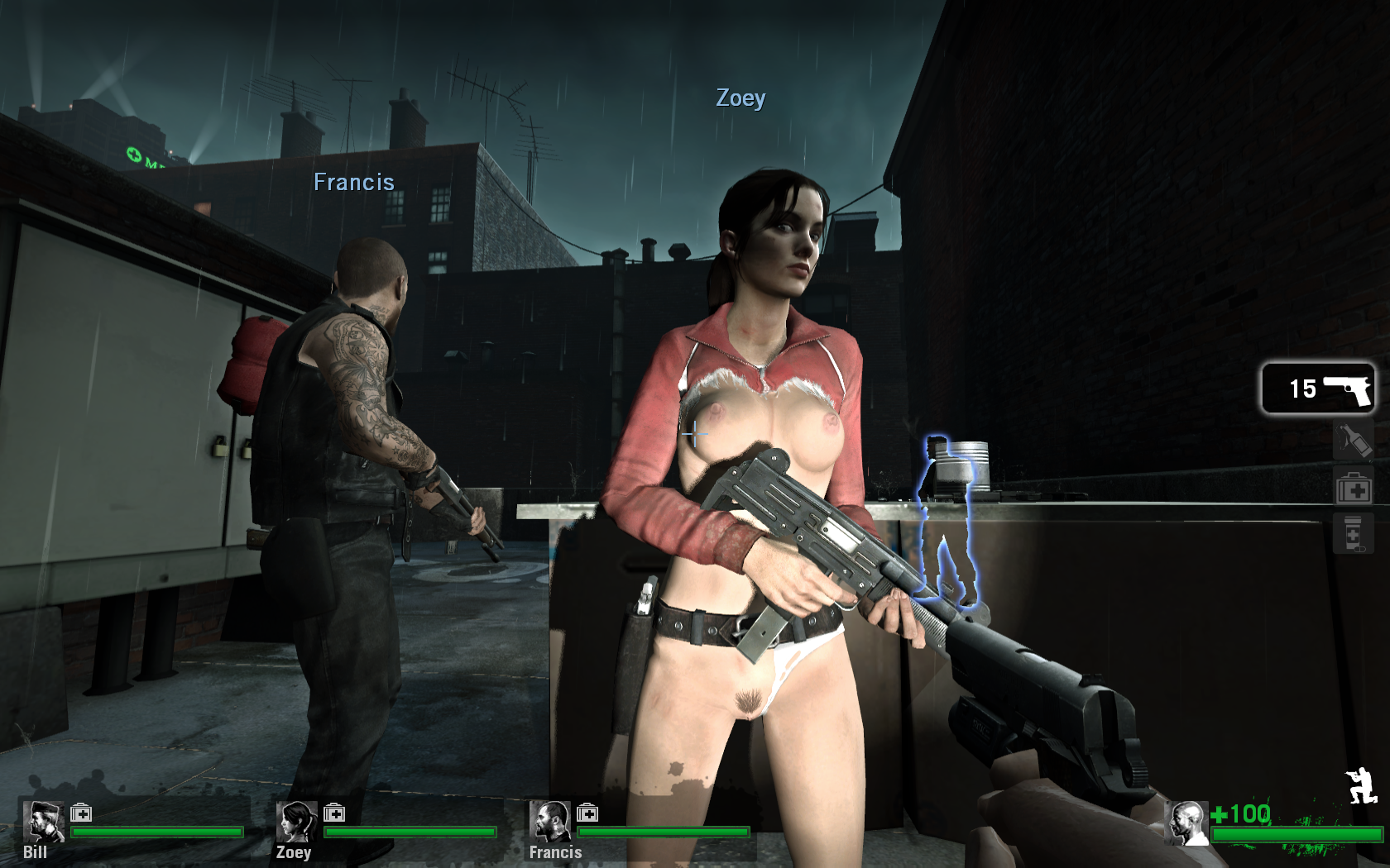 L4d zoe naked with witch hardcore angel