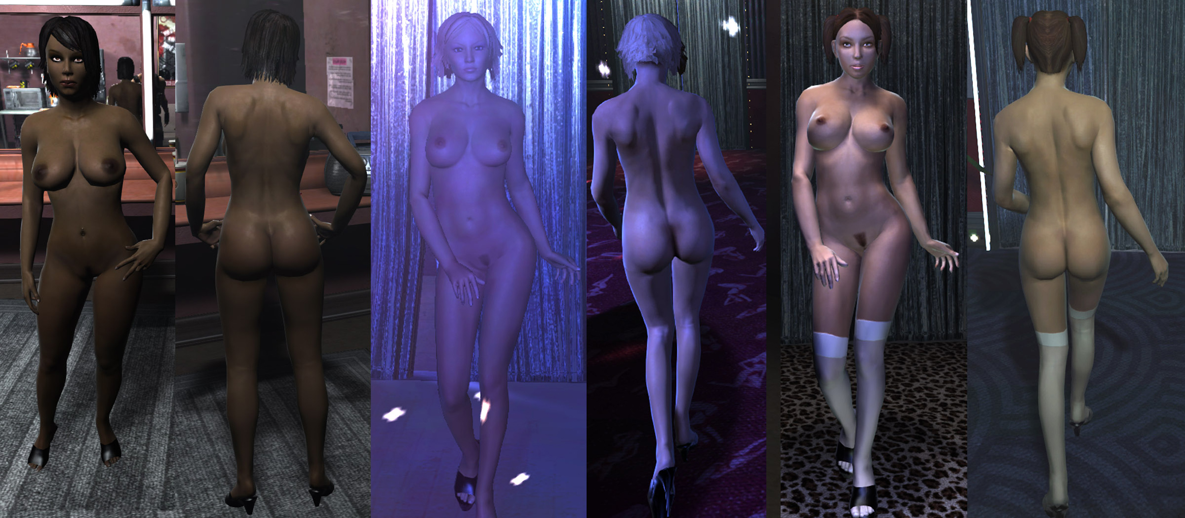 Sim 8 in 1 nude naked mod  sexy girl