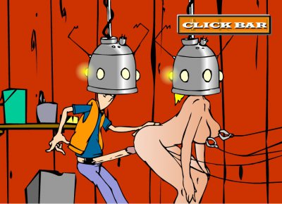 One of the experiments of Professor Brown, porn flash game Fuck to the future