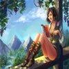 Прекрасная нуианка, вариация на тему игры ArcheAge