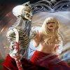 Офелия в облике скелета и прекрасной голой девушки, игра Divinity: Dragon Commander
