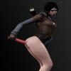 Эротическое фото Кэт, персонажа игры DmC: Devil May Cry