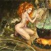 Голая ведьма Огня, игра Gothic