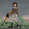 Рисунок с Дженифер Мю, китайской наемницей из игры Mercenaries 2: World In Flames