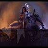Полуголые девушки человеческой расы и аумауа, по мотивам Pillars of Eternity