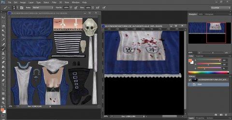 Photoshop с измененными .dds текстурами Алисы