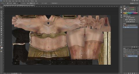 Photoshop с измененной .dds текстурой куртизанки