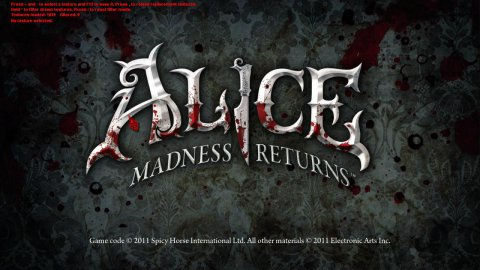 Загрузка игры Alice: Madness Returns с работающим TexMod'ом