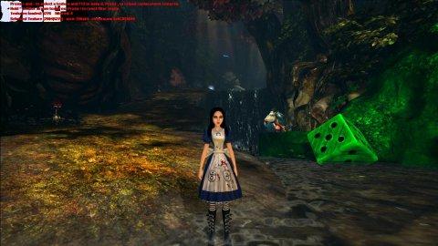 Alice: Madness Returns с работающим TexMod'ом, текстура камня, окрашенная зеленым