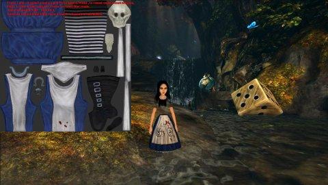 Alice: Madness Returns с работающим TexMod'ом, текстура первая текстура для редактирования