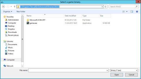 Скриншот программы uMod, добавление игры