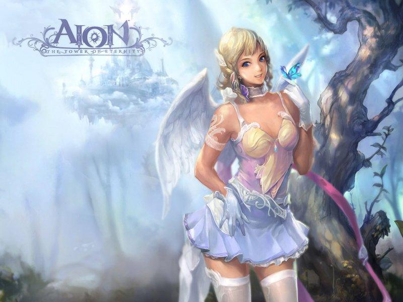 Полуобнаженная девушка (Aion)