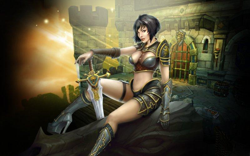 Полуобнаженная принцесса Амели (King's Bounty: Armored Princess)