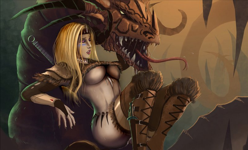 Обнаженная главная героиня и дракон (Divinity II: Ego Draconis)