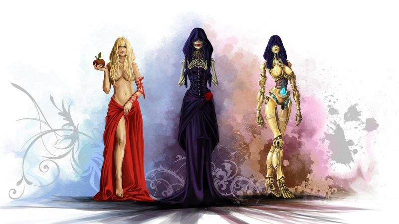 Принцесса Офелия и ее полуобнаженные ипостаси (Divinity: Dragon Commander)