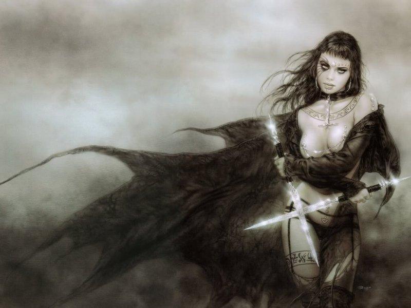 Полуобнаженная главная героиня игры Dungeon Lords