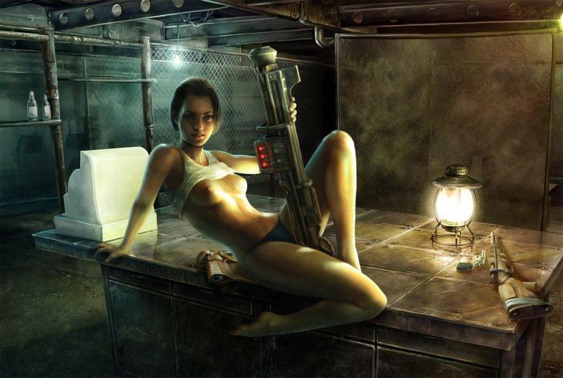 Обнаженная Одинокая странница, женский образ главного героя (Fallout 3)