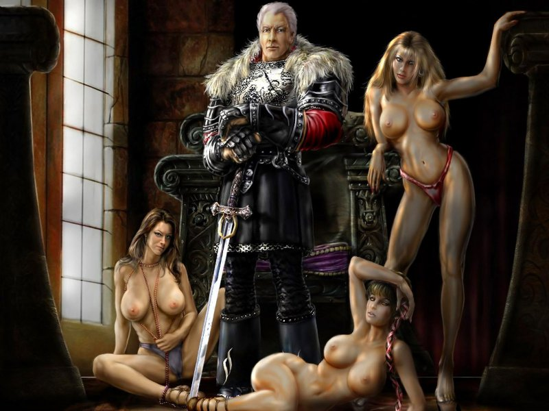 Король Робар II и обнаженные девушки (Gothic)