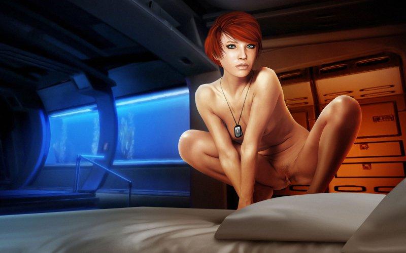 Обнаженная Келли Чамберс (Mass Effect 2)