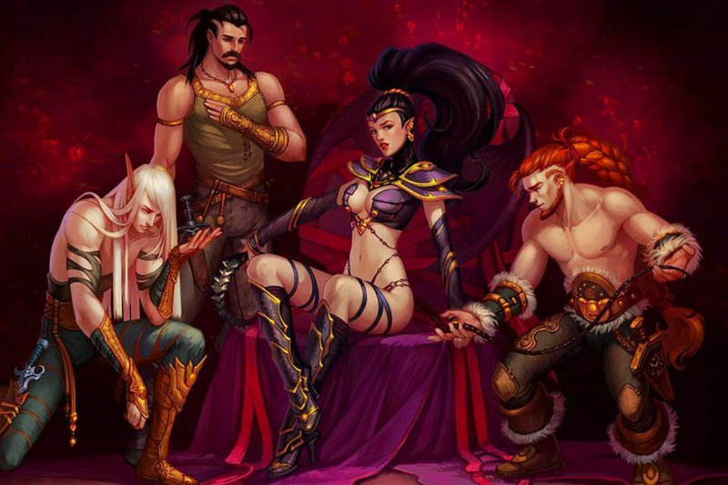 Полуобнаженная демонесса Неолина (King's Bounty: Dark Side)