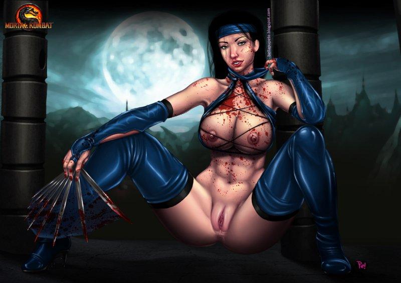 Обнаженная Китана (Mortal Kombat)