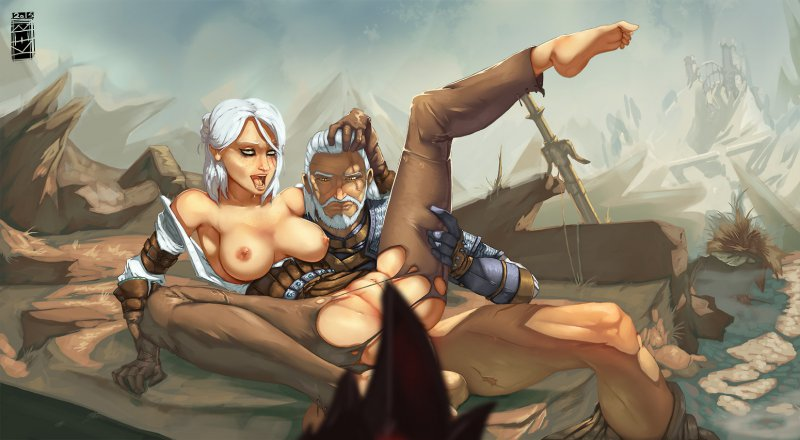 Naked Cirilla and Geralt (The Witcher 3: Wild Hunt)