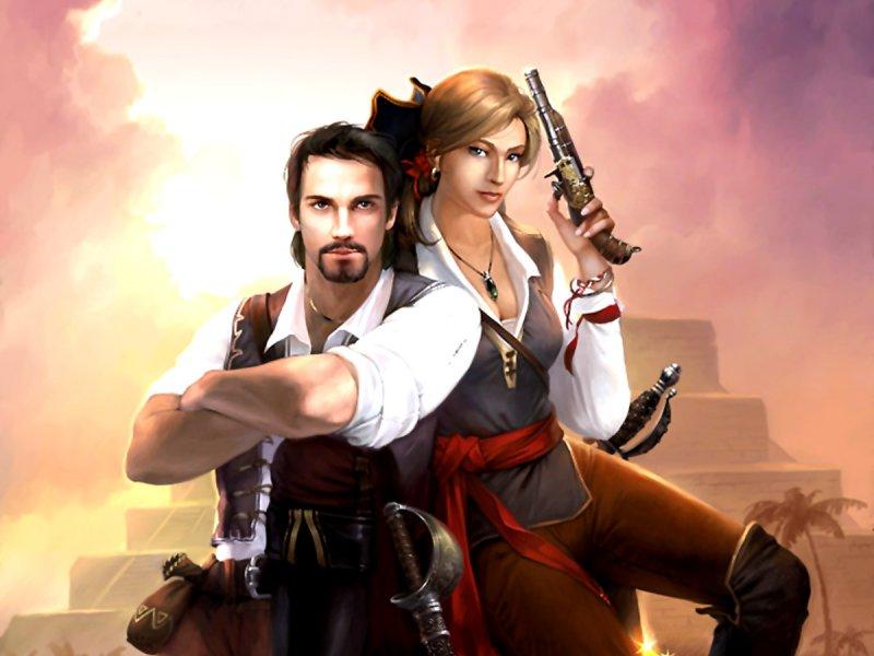Натаниэль Хаук и Даниэль Грин, герои игры «Пираты Карибского моря»