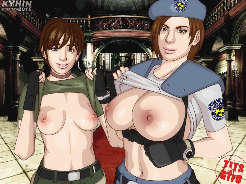 Обнаженные Ребекка Чемберс и Джилл Валентайн (Resident Evil HD Remaster)