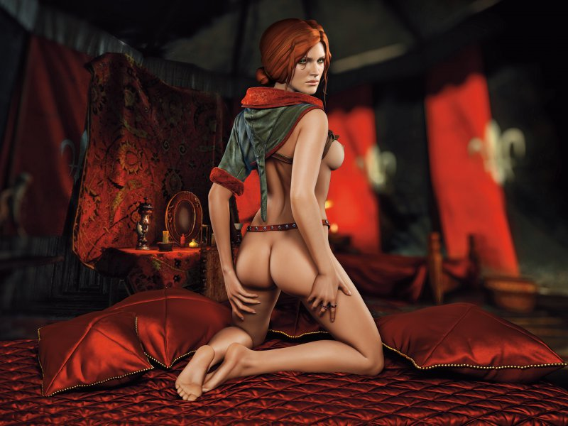 Обнаженная Трисс Меригольд («Ведьмак 2: Убийцы королей»)