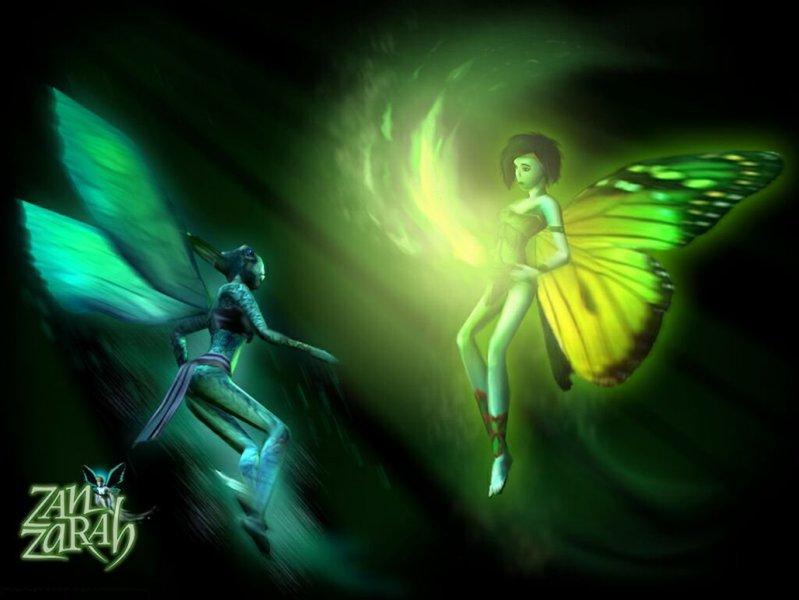 Главная героиня в облике феи и дикая фея воды (Zanzarah: The Hidden Portal)