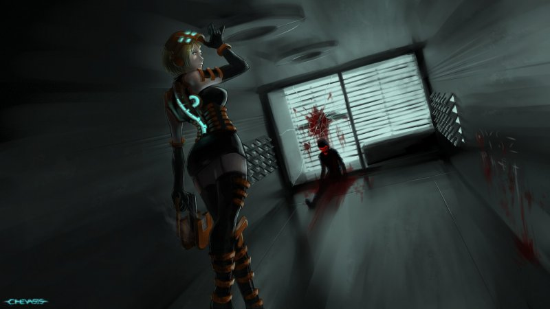 Полуобнаженная Николь Бреннан (Dead Space)
