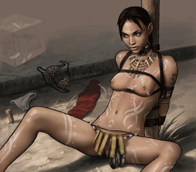 Обнаженная Шева Аломар (Resident Evil 5)