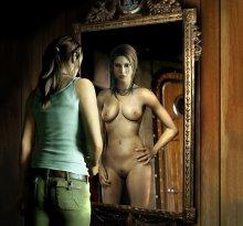 Обнаженная Лара Крофт (Tomb Raider)