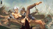 Обнаженные Цирилла и Геральт (The Witcher 3: Wild Hunt)