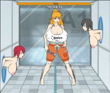 Mizuki and naked girls, porn flash game Portal Diva Mizuki